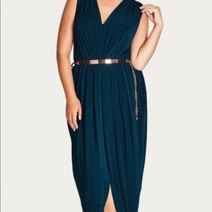 City chic sexy slink maxi dress - Black
